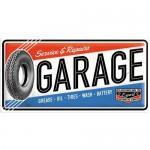 Plaque en métal 25 x 50 cm : Garage et réparations