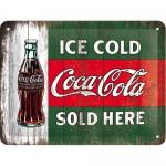 Plaque en métal 15 X 20 cm : Coca-cola publicité