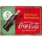 Plaque en métal 14 X 10 cm : Coca-Cola publicité rétro