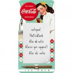 Bloc-notes aimanté Coca-Cola avec pin-up vintage