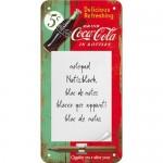 Bloc-notes aimanté publicité Coca-Cola rouge et verte