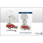 Porte-clés coulissant VW Volkswagen Coccinelle Beetle rouge