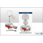 Porte-clés coulissant VW Volkswagen T1 Campervan Bulli rouge