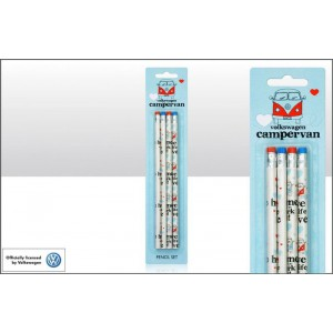 "Set de 4 crayons VW Volkswagen T1 Bulli ""Live the life"""