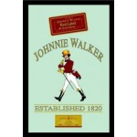 Cadre miroir logo whisky Johnnie Walker
