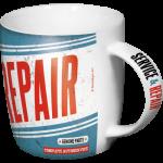 Tasse à café (coffee mug) Service and repair