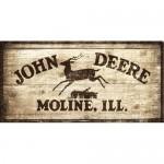 Plaque en métal 25 x 50 cm : Enseigne John Deere