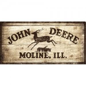 plaque en m tal 25 x 50 cm enseigne john deere deco envie com. Black Bedroom Furniture Sets. Home Design Ideas