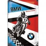 Plaque en métal 20 X 30 cm : BMW MOTO