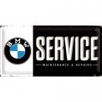 Plaque en métal 25 x 50 cm : BMW Service : enseigne de garage