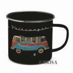 Tasse à café (coffee mug) VW Volkswagen en métal Bulli décor Coccinelle Beetle