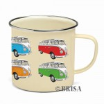 Tasse à café (coffee mug) VW Volkswagen T1 Bulli multicolores