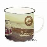 Tasse à café (coffee mug) VW Volkswagen T1 Bulli au bord de la mer