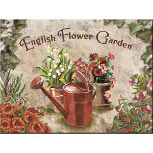 Magnet 8 x 6 cm English Flower Garden