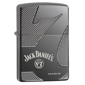 Briquet essence ZIPPO logo N°7 Jack Daniel's Ice Black Armor