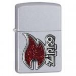 Briquet essence Zippo classique logo et flamme rouge