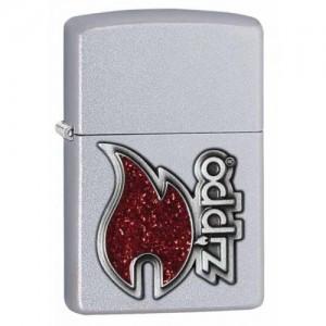 Briquet essence Zippo chrome brossé classique