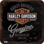Sous-verre Harley-Davidson Genuine (à la pièce)