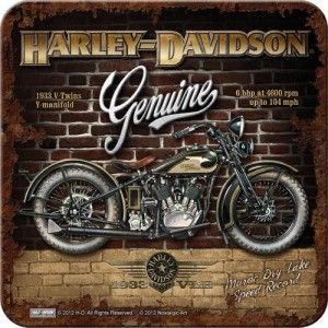 Sous-verre Harley-Davidson 1933 V-Twins Y-Manifold (à la pièce)