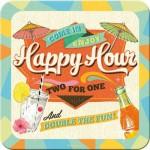 Sous-verre Happy Hour (à la pièce)