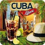 Sous-verre Cocktail Cuba Libre (à la pièce)
