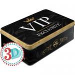 Boîte en métal plate Vip Exclusive