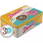 Boîte en métal plate Donuts