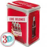 Boîte en métal rectangulaire Coca-Cola casier vintage