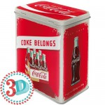 Boîte en métal rectangulaire Cola