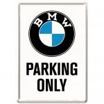 Plaque en métal 14 X 10 cm BMW Parking Only