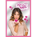 Cadre miroir Violetta envoie des bisous en forme de coeur