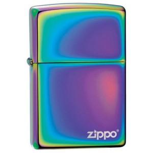 Briquet essence Zippo Spectrum (couleur changeante) avec logo