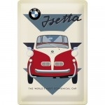 Plaque en métal 20 X 30 cm : BMW Isetta
