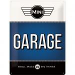 Plaque en métal 30 X 40 cm : MINI Garage