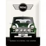 Plaque en métal 30 X 40 cm : MINI Cooper