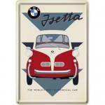 Plaque en métal 14 X 10 cm BMW Isetta la petite citadine