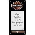 Bloc-notes aimanté Harley-Davidson : logo de la marque