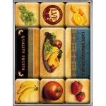 Set de 9 magnets Quality Fruits Vintage
