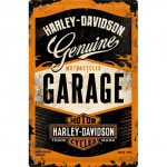 Plaque en métal mate neuve XL 40 x 60 cm : Garage Harley-Davidson