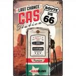 Plaque en métal mate neuve XL 40 x 60 cm : Route 66 Gas Station - Station essence