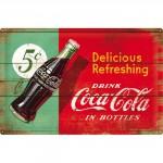 Plaque en métal mate neuve XL 40 x 60 cm : Publicité Coca-Cola