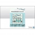 MAGNET (6 X 6 cm) : VW VOLKSWAGEN BULLI T1 A LA FETE