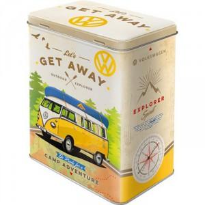 Boîte en métal rectangulaire VW Volkswagen Cox Coccinelle (Beetle)