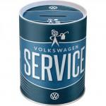 Tirelire métallique ronde VW Volkswagen Service
