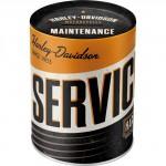 Tirelire métallique ronde Harley-Davidson Service & Repair