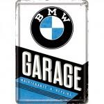 Plaque en métal 14 X 10 cm Garage BMW