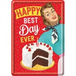 "Plaque en métal 14 X 10 cm ""Happy Best day ever"""