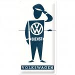 Plaque en métal 25 x 50 cm : VW Volkswagen - Dienst (Service)