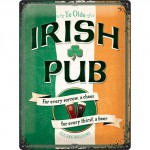 Plaque en métal 30 X 40 cm : Irish Pub - Pub irlandais