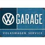 Plaque en métal mate neuve XL 40 x 60 cm : VW Volkswagen Garage